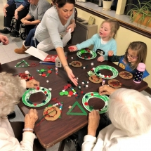 Local Girlscout Troop Sending Time with Residents
