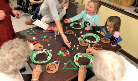 Local-Girlscout-Troop-Sending-Time-with-Residents